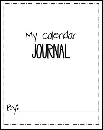Calendar Journal Title Page