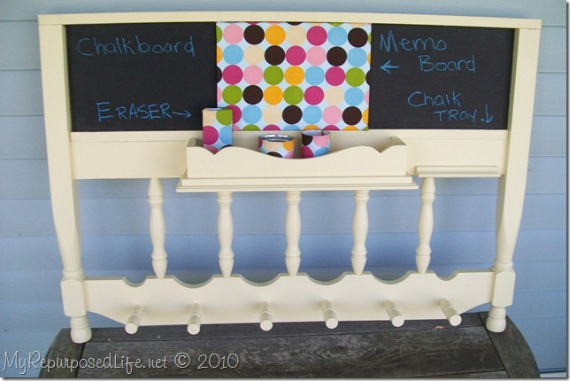 upcycled headboard shelf crib parts tin cans ceiling tile