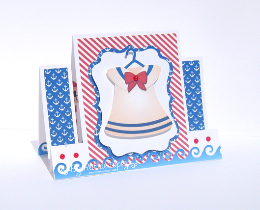 Nini Scrap - Nautical Bears - Ruthie Lopez - Center Step Card. 2