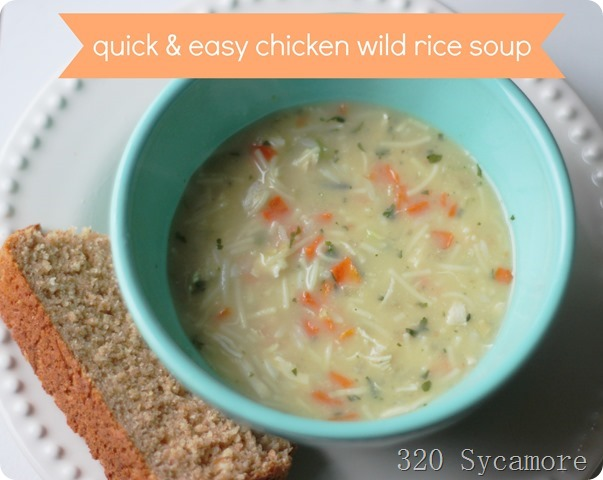 quick & easy chicken wild rice soup