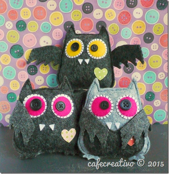 cafe creativo - sizzix big shot - fustella gufo - pipistrello - halloween