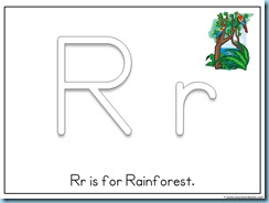 Letter Rr Printable for Toddlers
