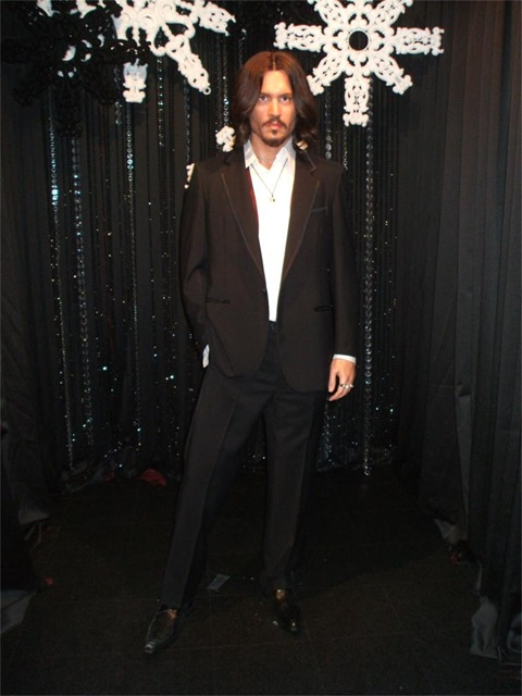 Johnny Depp model at Madame Tussauds