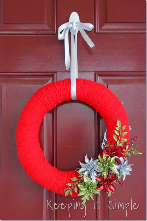 framed Christmas wreath (11)