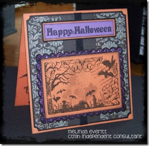 Halloween card close up