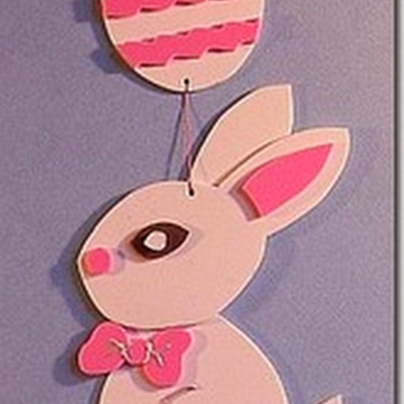 Manualidades Pascua para niños, conejo con huevos