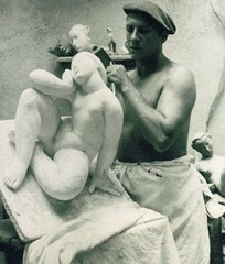 French sculptor Victor Nicolas (1950)