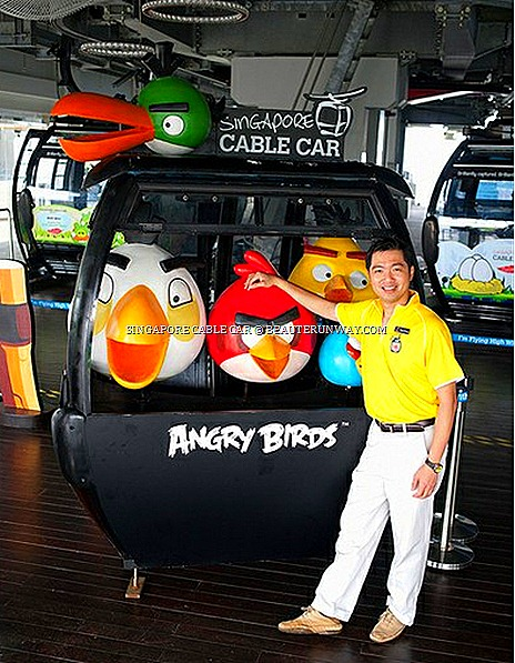 ANGRY BIRDS SINGAPORE CABLE CAR RIDE MOUNT FABER SENTOSA WORLD FIRST ADVENTURE GAME activities attractions face mask mocktail limited edition tumbler ipad Chan Chee Chong