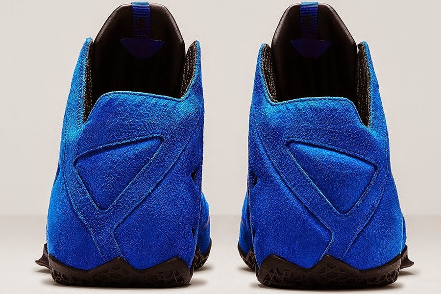 cfb5818eef8 Nike LeBron XI EXT 8220Blue Suede8221 Drops on April 10th for 200 . Nike  LeBron 11 EXT Blue Suede ...