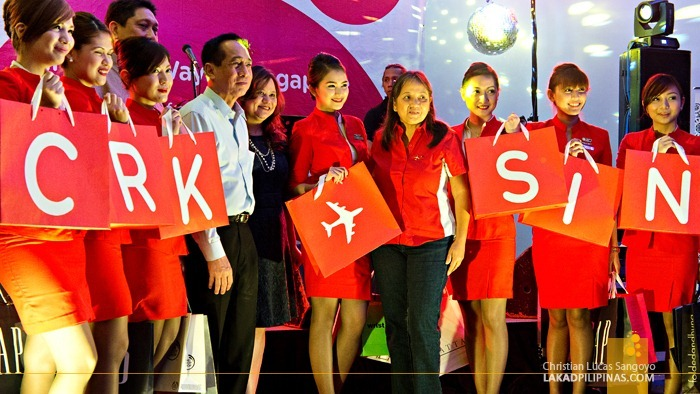 AirAsia's Clark to Singapore Inaugural Party