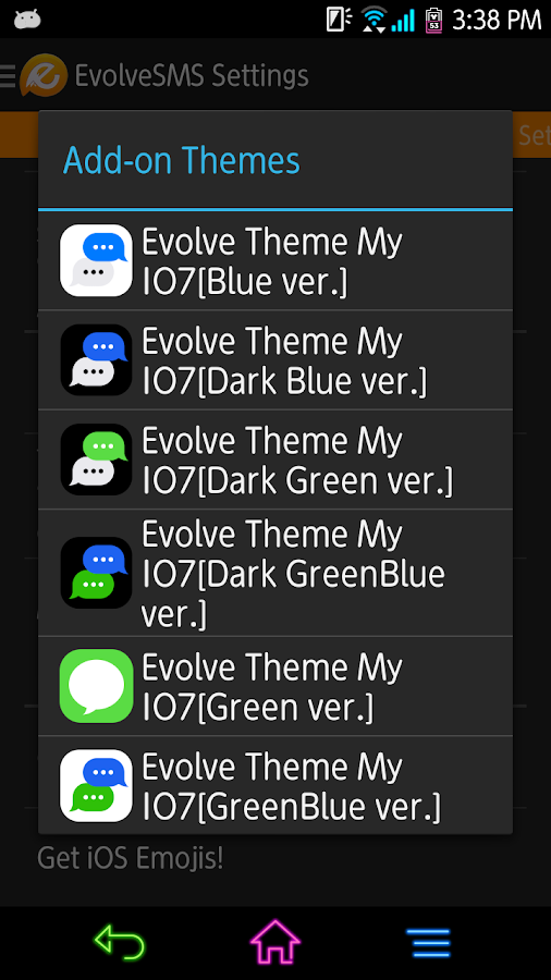 EvolveSMS - My I7[Dark Blue] - screenshot