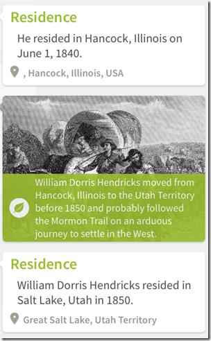 示例祖先iPad应用程序的历史洞察力:Mormon Trail