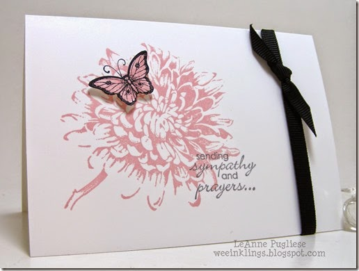 LeAnne Pugliese WeeInklings Blooming with Kindness Sympathy Stampin Up