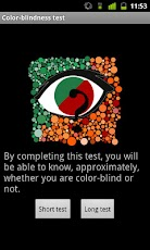 Logo for Color Blindness Test App for Android