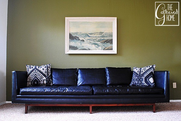 black mid century sofa 7