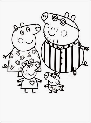peppa-pig-cartoon-free-colorir-familia