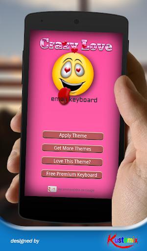Crazy Love Emoji Keyboard