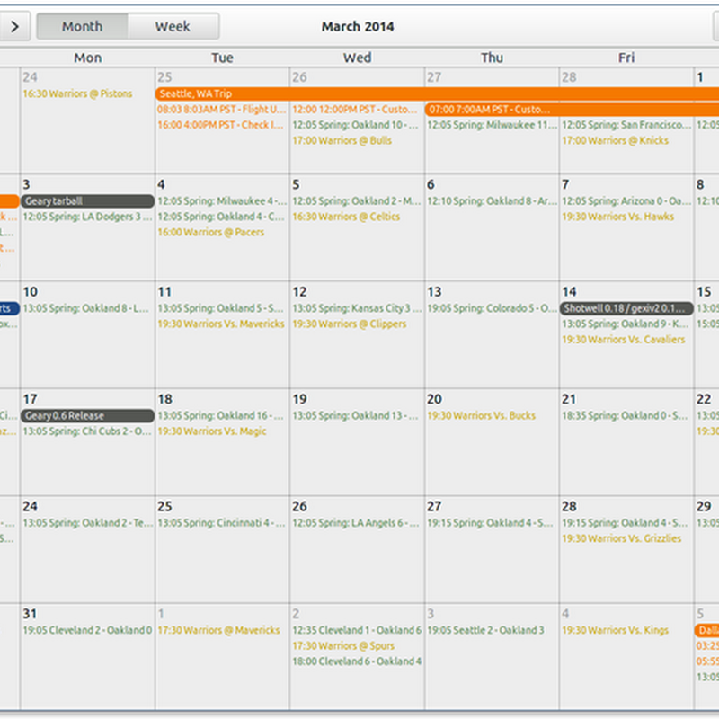 "Come installare California, calendario per Gnome 3, in Ubuntu 14.04 ""Trusty Tahr""."