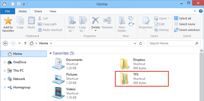 Favorite folder in Home Screen of Windows 10 (www.kunal-chowdhury.com)