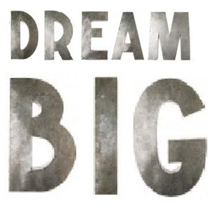 DREAM BIG LETTERS