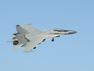 Indian Air Force [IAF] Sukhoi Su-30MKI fighter aircrafts at the Red Flag exercise in the United States of America