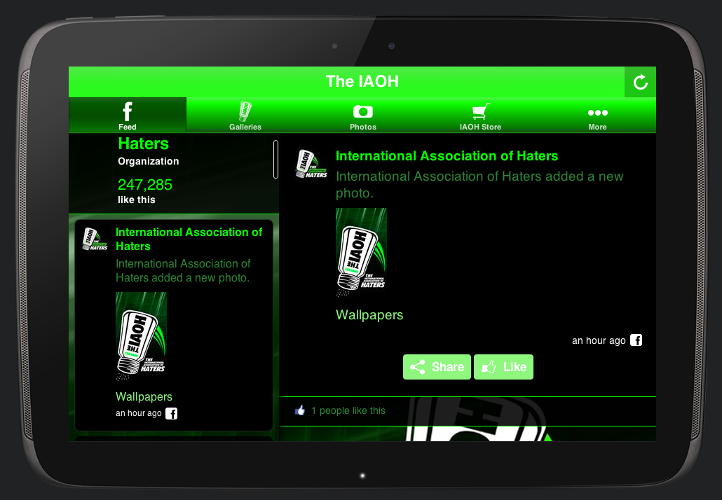 The IAOH Official Haters App- screenshot