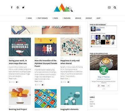 Template Blogspot - Craper - Phong cách lưới - Responsive
