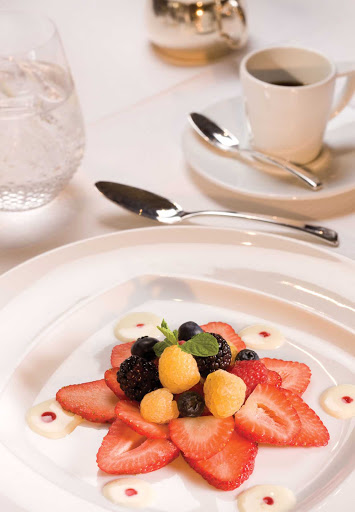 Regent-Seven-Seas-Berries - Prime 7 Restaurant ensures fresh produce is available to create flavorsome dishes for you to enjoy throughout your cruise on Seven Seas Voyager.