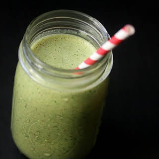 Green Giant Smoothie with Banana, Spinach, and Almond Butter.