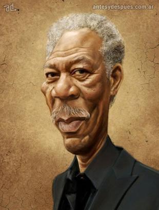 La caricatura de Morgan Freeman