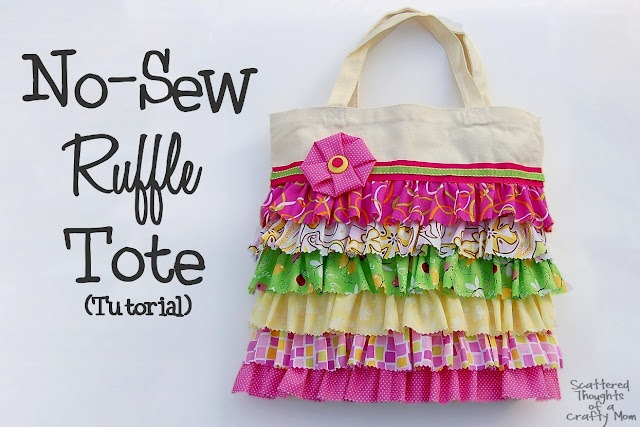 no sew ruffle tote smaller