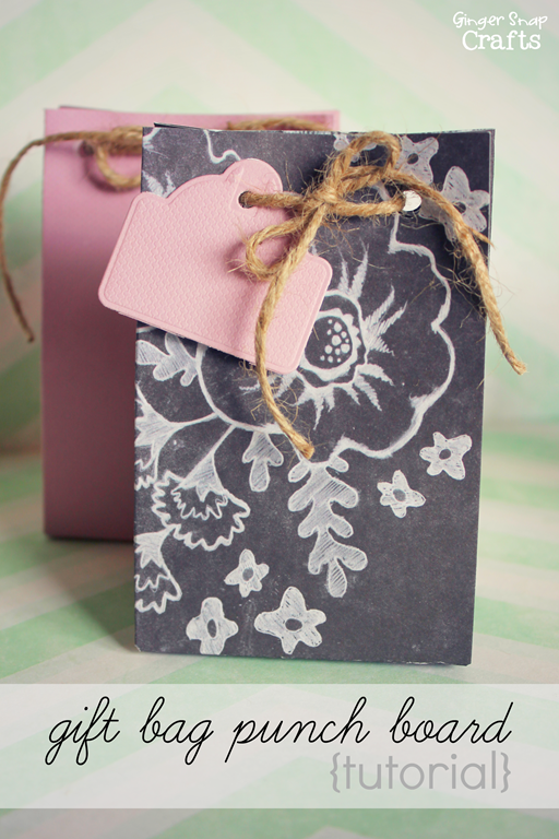 Gift Bag Punch Board Tutorial at GingerSnapCrafts.com #wermemorykeepers #lifestylestudios #spon