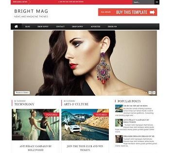 Template Blogspot - Bright - Responsive - phong cách tạp chí