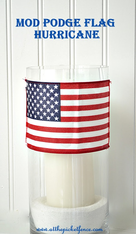 Mod Podge Flag Hurricane