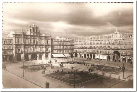 plaza mayor desde 1940