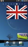 Screenshot of British Flag doo-dad