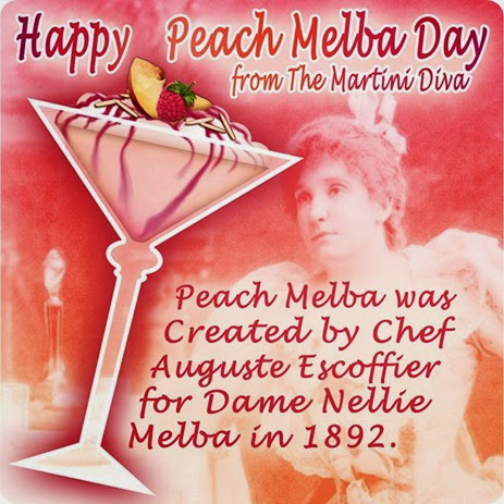 peach melba day