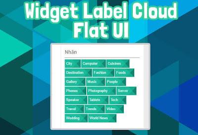 [ Blogger ] - Tạo Label Cloud Flat UI Màu Xanh Tươi Mát