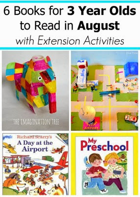 August Book Picks for 2 and 3 Year Olds with Extension Activities