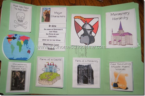 The Door in the Wall Literature Lapbook Homeschool Elementary
