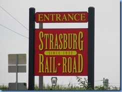 1719 Pennsylvania - Strasburg, PA - Strasburg Rail Road  sign