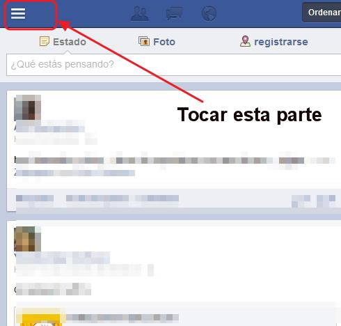 salir en facebook desde el iphone