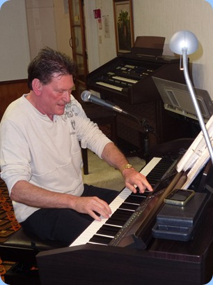 Guest artist, Murray Hancox, played and sang for us for about 35 minutes on our Yamaha Clavinova CVP-509. Murray certainly made the instrument talk as well - but then he sells them at Musicworks Atwaters in Auckland City! Great show (as always) thanks Murray.