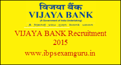 Vijaya Bank Recruitment 2015 – Clerical Cadre Posts