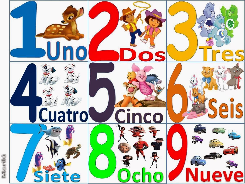Numero 10 Con Imagenes: Huellas Educación Especial: Los Números Del 1 Al 5