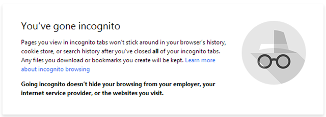 Chrome 37 new incognito start page