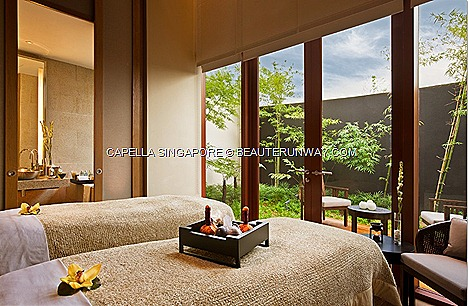 Capella Hotel Singapore Auriage Spa Sentosa Valentine spa couple package pampering divine relaxing treat body massage scrub