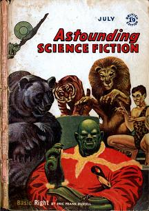 Cover by Freas of Astounding Science Fiction magazine, British edition, July 1958