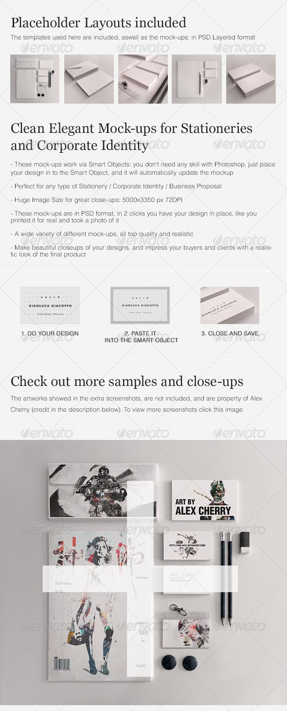 Bộ Realistic Stationery Mockups Set 1- Corporate ID