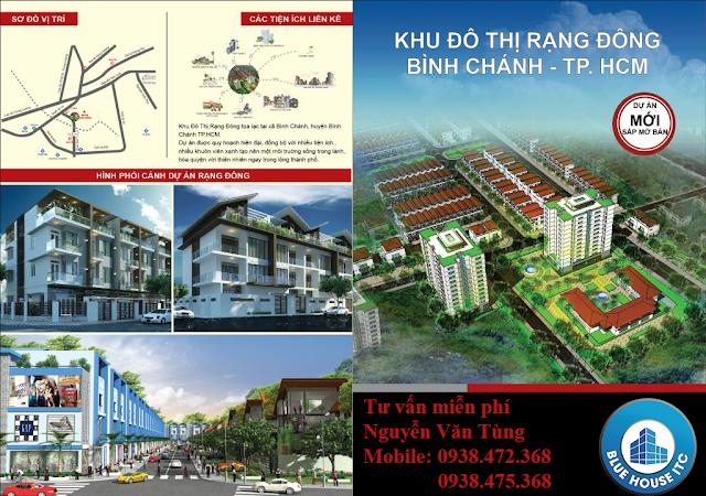 Mo ban 20 dat nen Khu Dan Cu Rang Dong Binh Chanh voi gia khoag 63 trieu dongm2
